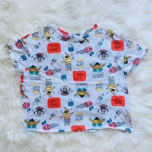 Zara comic shirt